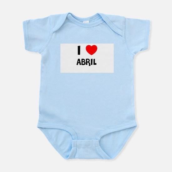 I LOVE ABRIL Infant Creeper