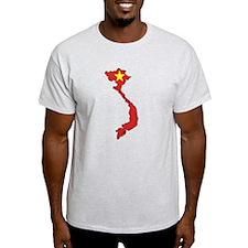 Vietnam Flag Map T-Shirt