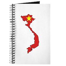 Vietnam Flag Map Journal
