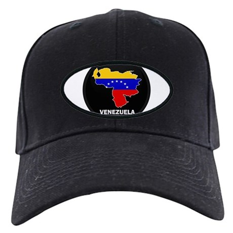 Flag Map of Venezuela Black Cap