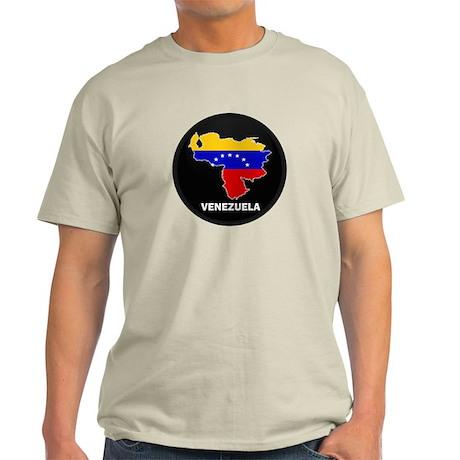 Flag Map of Venezuela Light T-Shirt
