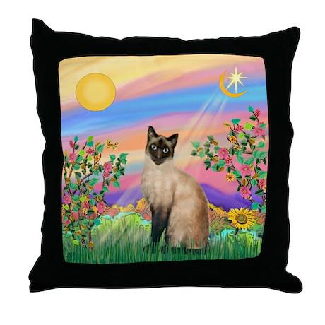 Day Star / Siamese Throw Pillow