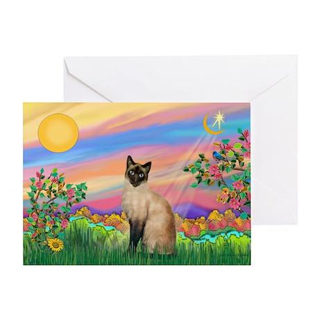 Day Star / Siamese Greeting Card
