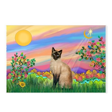 Day Star / Siamese Postcards (Package of 8)