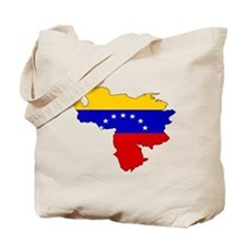 Venezuela Flag Map Tote Bag