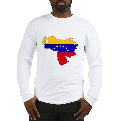 Venezuela Flag Map Long Sleeve T-Shirt
