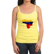 Venezuela Flag Map Jr.Spaghetti Strap