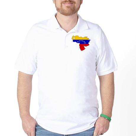 Venezuela Flag Map Golf Shirt