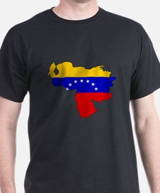Venezuela Flag Map T-Shirt