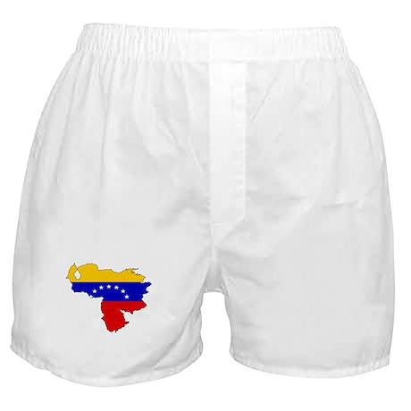 Venezuela Flag Map Boxer Shorts