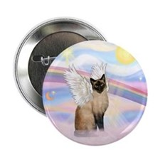 "Clouds / Siamese 2.25"" Button"