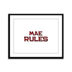 mae rules Framed Panel Print