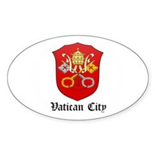Vatican Coat of Arms Seal Oval Decal