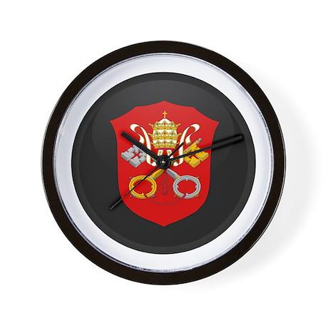 Coat of Arms of Vatican City Wall Clock