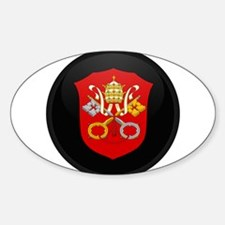 Coat of Arms of Vatican City Oval Decal