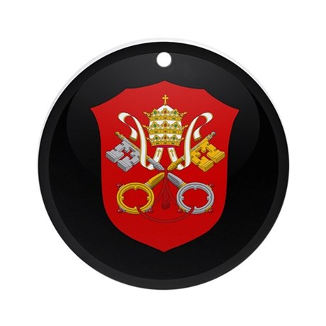 Coat of Arms of Vatican City Ornament (Round)
