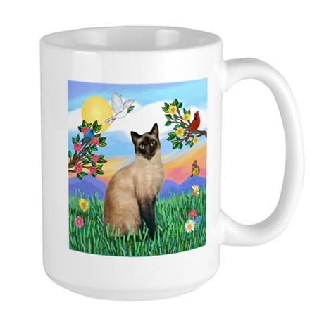 Bright Life / Siamese Large Mug