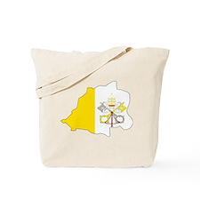 Vatican City Flag Map Tote Bag