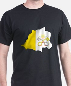 Vatican City Flag Map T-Shirt