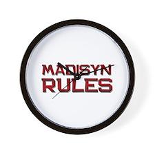 madisyn rules Wall Clock