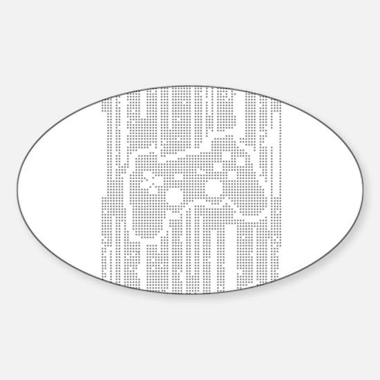 Dot Matrix Pad Oval Decal
