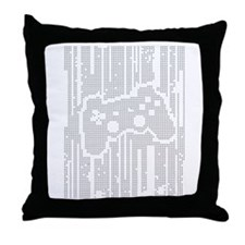 Dot Matrix Pad Throw Pillow