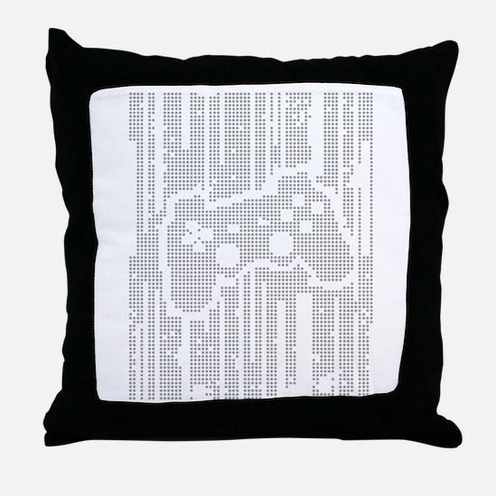 Dot Matrix Pad Throw Pillow