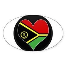 I love vanuatu Flag Oval Decal