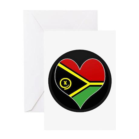 I love vanuatu Flag Greeting Card