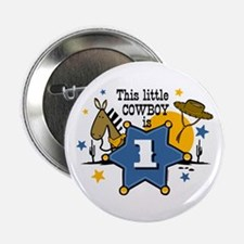 "Little Cowboy 1st Birthday 2.25"" Button"