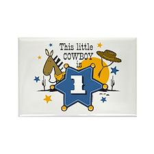 Little Cowboy 1st Birthday Rectangle Magnet