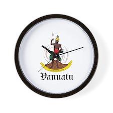 Ni Vanuatu Coat of Arms Seal Wall Clock