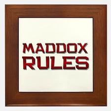 maddox rules Framed Tile