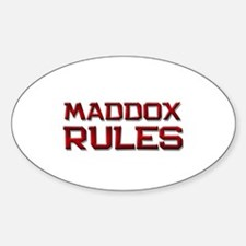 maddox rules Oval Decal