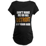 Detroit Baseball Maternity Dark T-Shirt