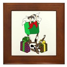 Fainting Goat Christmas Gifts Framed Tile