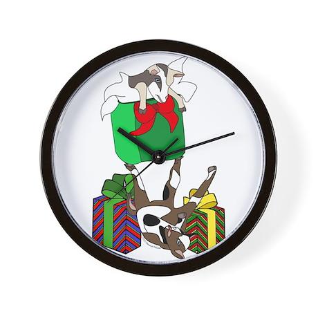 Fainting Goat Christmas Gifts Wall Clock
