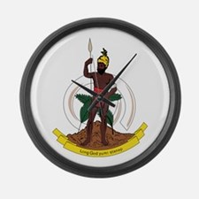 vanuatu Coat of Arms Large Wall Clock