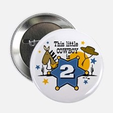 "Little Cowboy 2nd Birthday 2.25"" Button"