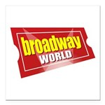 "BroadwayWorld 2017 Logo Square Car Magnet 3"" x 3"""
