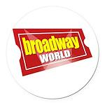 BroadwayWorld 2017 Logo Round Car Magnet
