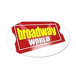 BroadwayWorld 2017 Logo Oval Car Magnet