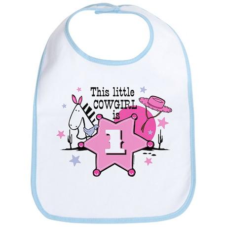Little Cowgirl 1st Birthday Bib