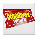BroadwayWorld 2017 Logo Tile Coaster