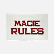 macie rules Rectangle Magnet