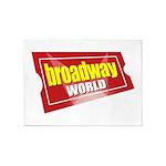 BroadwayWorld 2017 Logo 5'x7'Area Rug