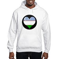 I love Uzbekistan Flag Hoodie
