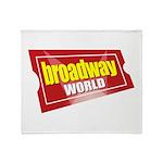 BroadwayWorld 2017 Logo Throw Blanket