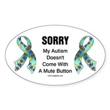 Autism Sorry Oval Sticker (10 pk)
