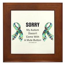 Autism Sorry Framed Tile